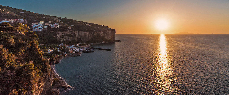 Almafi coast at sunset
