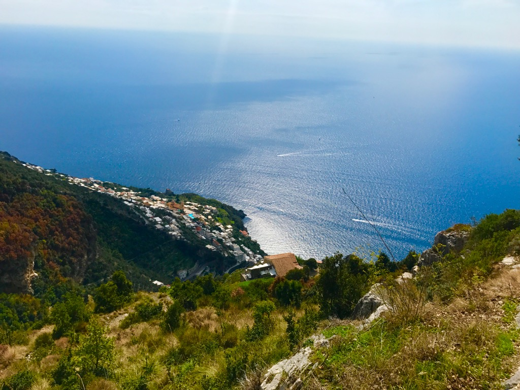 View from Amalfi yoga retreat