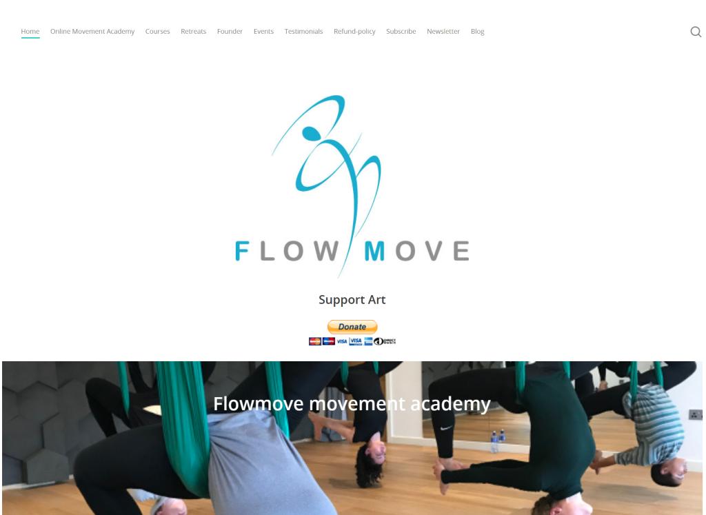 Aearial Yoga Website